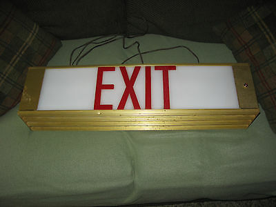 Rare Unusual Vintage EXIT Sign