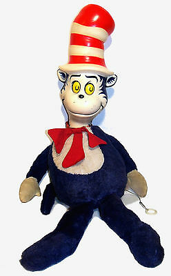 """1970 Mattel 23"""" Pull String Dr. Seuss Cat in the Hat - GUC"""