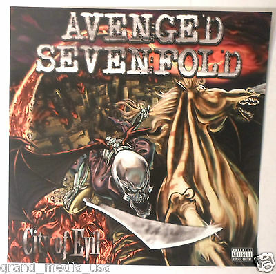 Avenged Sevenfold - City Of Evil promotional Poster/Flat (2005) EXC CONDITION
