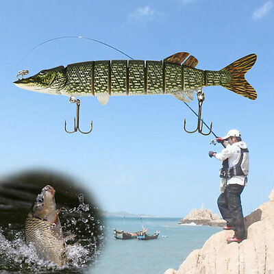 8 Segement Good Quality Lifelike Fishing Lure Pesca Hard Fishing Baits AU