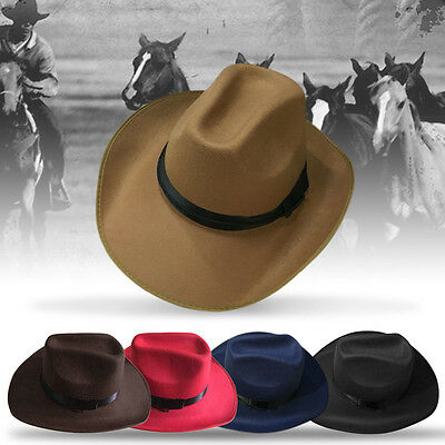 Adjustable Rope Male Female Western Style Caps New Cowboy Cowgirl Hats AU
