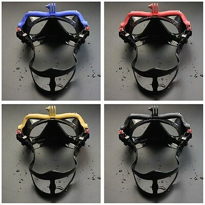 Underwater Camera Plain Diving Mask Scuba Snorkel Swimming Goggles for GoPro QT