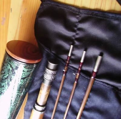 Superb 8ft 3pcs 2tips Deluxe Bamboo Fly Rod #5