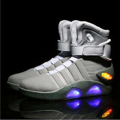Marty McFly Schuhe Shoes Back to the Future Light Up Shoes Cosplay Kostüm XCOSER