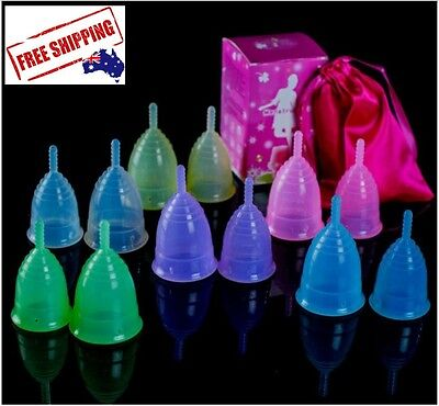 Medical Grade Silicone Reusable Menstrual Cups NEW Eco Friendly Aussie Seller!