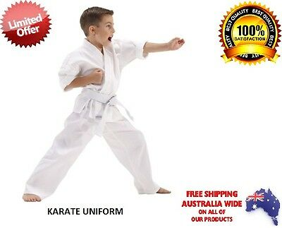 WHITE KARATE SUIT MARTIAL ARTS 100% Cotton New