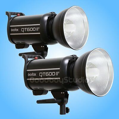 2PCS Godox QT-600IIM 600W 2.4G X-System High Speed Studio Strobe Flash Light
