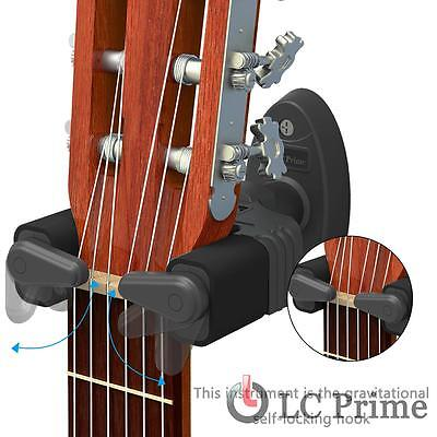 Guitar Wall Mount Hanger, Auto Lock Design, Fits Acoustic Electronic Guitar Bass