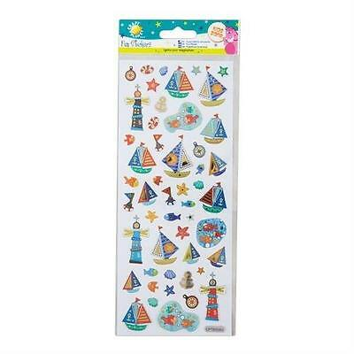 """Craft Planet Fun Foiled Stickers """" Nautical """" For Cards & Craft"""