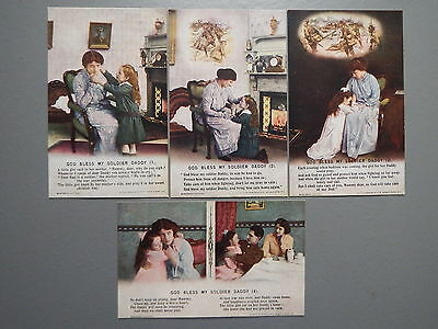 R&L Postcard: Bamforth Song Card Set Series 4875 God Bless My Soldier Daddy