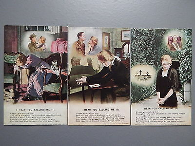 R&L Postcard: Bamforth Song Card Set Series 4890 I Hear You Calling Me