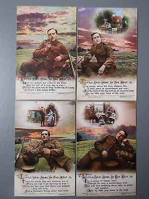 R&L Postcard: Bamforth Song Card Set Series 4957 Little Grey Home in the West