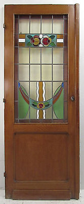 Vintage American Stained Glass Door (8890)NJ