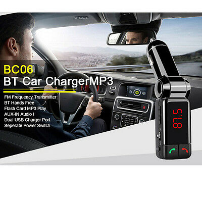 Bluetooth Car Kit Handsfree MP3 Player FM Transmitter USB Charger AUX Wireless