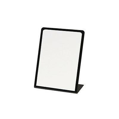"5"" X 7"" Slanted Black Border Acrylic Counter Top Jewelry Mirror Display - 2 Pcs"