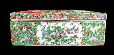 Antique Chinese Canton Rose Medallion Box, 19th Century