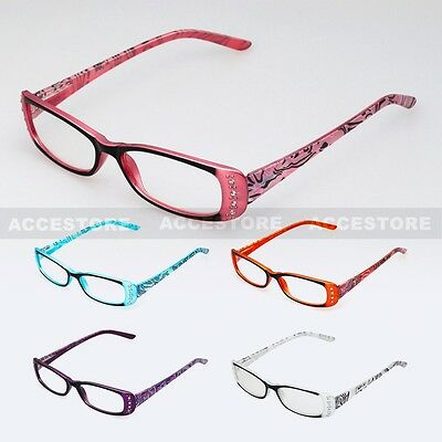 Designer Color Classic Retro Reading Glasses Unisex Women Men Various Strengths