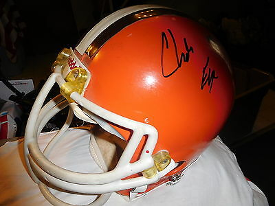 CLEVELAND BROWNS RIDDELL NFL FULL SIZE game played FOOTBALL HELMET Charles Frye