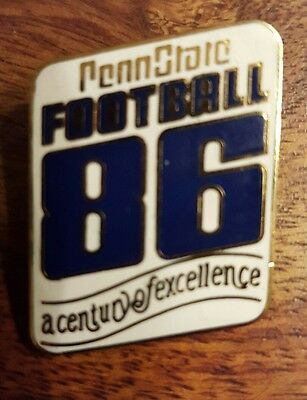Rare vintage 86 Pennstate Football - A century of excellence pin