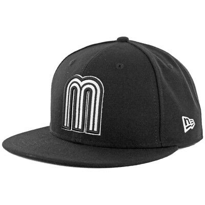 New Era 59Fifty World Baseball Classic 2017 Mexico (Black/White) WBC Fitted Cap