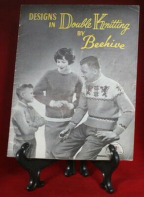 Designs in Double Knitting by Beehive, Vintage Pattern #84, Sweaters & Cardigans