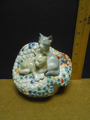 Lladro Cats On Couch #6664 Mosaic. Modernism