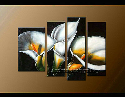 FRAMED MODERN FLOWER Abstract Oil Painting on Canvas Contemporary ...