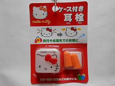 KAWAII ! HELLO KITTY Case with Ear Plugs from JAPAN FREE SHIPPING