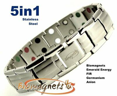 Mens Superb Quality  Stainless Steel Bio Magnetic Power Bracelet- Stress Relief
