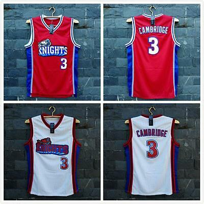 CALVIN CAMBRIDGE #3 Los Angeles KNIGHTS Basketball Stitched Jersey RED/WHITE