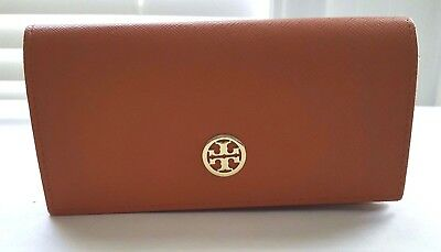 Tory Burch Orange Leather Sunglasses Eyeglasses Case