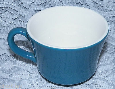 """Vintage CROWN LYNN Willow Pattern Tableware Coffee Cup 2 3/4"""" Tall in SOLID BLUE"""