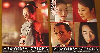 MEMOIRS OF A GEISHA - 11x14 US Lobby Cards Set of 10 - Ziyi Zhang, Michelle Yeoh