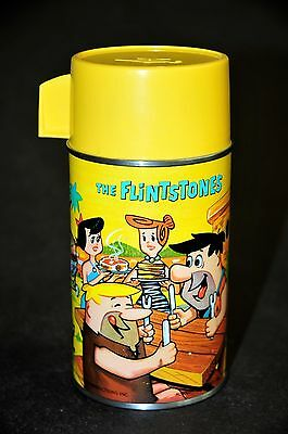 "1964 Aladdin ""yellow"" Flintstones Lunchbox Thermos...mint Unused!"
