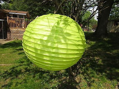 "(10) Asian Chinese Paper Lantern Lamp Shades 20"" (Green)"