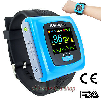CE 24H Wrist Watch Pulse Oximeter SpO2 Blood Oxygen Sleep Study Monitor+Software