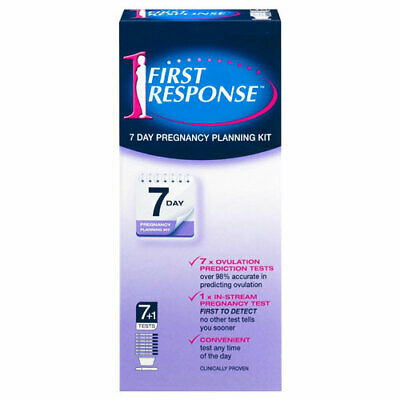 * First Response 7 Day Pregnancy Planning Kit 8 Pack 7 + 1 In-Stream Test Tests