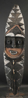 Classic Mindja Spirit Board W/ Red Face And Black And White Designs  New Guinea