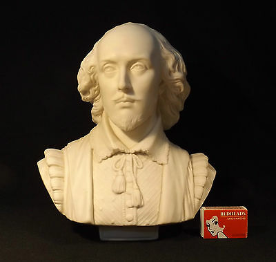 1861 Copeland Parian Bust William Shakespeare S.monti Crystal Palace Art Union.