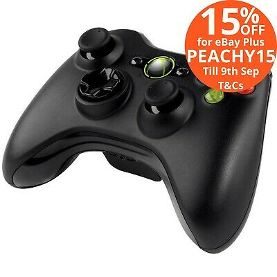 Microsoft Xbox 360 Wireless Game Controller Gaming Windows Gamepad Win 10 Black