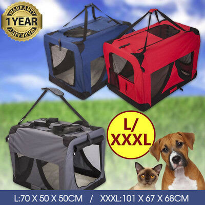 Portable Foldable Pet Soft Dog Cat Carrier Crate Travel Cage Kennel Large L/XXXL