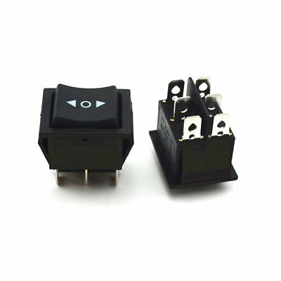 2Pcs Momentary Rocker Switch DPDT (ON)-OFF-(ON)  6 PIN 15A/250VAC 20A/125VAC