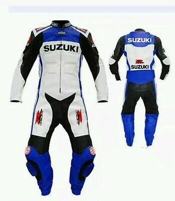 SUZUKI 2016 NEW  MotoGp  MOTORBIKE LEATHER SUIT- APPROVED FULL PROTECTION