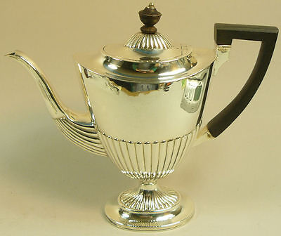 Elegant Victorian Antique Silver Coffee Pot London 1885