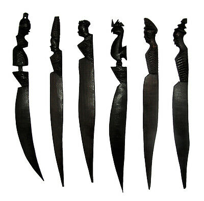 Hand Carved Letter Openers in Ebony Wood