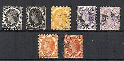 St Lucia 1864-76 vals to 1s FU