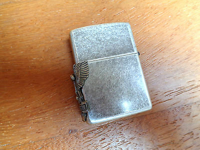 Zippo Lighter Harley Davidson Eagle Antique Silver Plate Year 1994 New