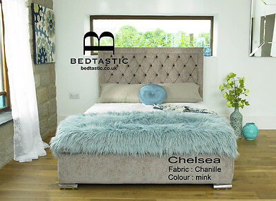Chelsea FABRIC Upholstered Bed Frame storage 3' Single 4'6 Double 5' King size