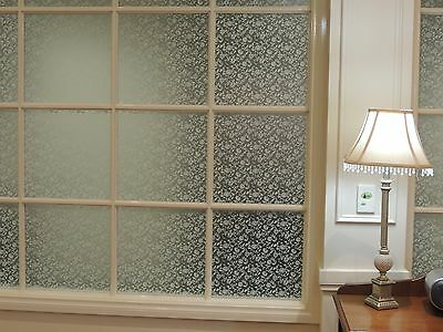92 CM x 3 M -  FLORAL Removable Frosted Window Glass Film for privacy