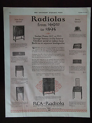 1927 RCA Radiola 9 Models Named and Shown Advertisement